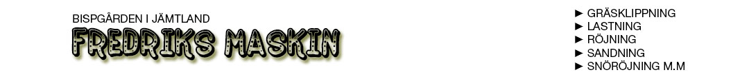 Fredriks Maskin Logo